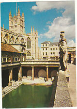 Unused  Postcard Somerset, Bath Abbey & Great Roman Bath, arthur dixon, 80285