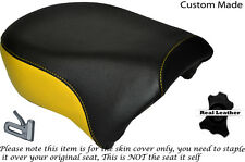 BLACK & YELLOW CUSTOM FITS HARLEY SPORTSTER IRON 883 1200 REAR SEAT COVER