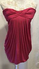 BCBG Maxazria Fuchia Sexy Sleeveless Open Back Cocktail Dress Sz XS Retail $298