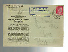 1943 Germany Ravensbruck Concentration Camp Cover KZ to Graz Austria Janina Fait