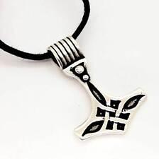Nuevo et de NOx de plata esterlina 925 Thor's Hammer mojlnir Colgante Cable Collar k446