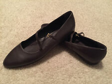 Brooks Brothers Leather Brown Mary Jane Flats - Sz. 8 M - NWOB