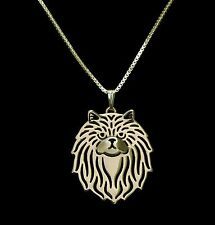 Persian Cat Pendant Necklace -  Fashion Jewellery - Gold Plated