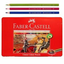 Faber Castell Classic Colour Pencils 36 Coloured Tin for Adult Colouring.