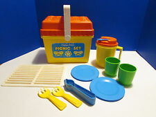 Vintage 1985 Fisher Price Fun with Food Picnic Set #2002