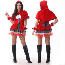 Little Red Riding Hood Adult Women Fancy Cosplay Dress Party Carnival Costumes