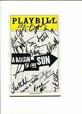 Sean P Diddy Combs A Raisin In The Sun Cast Rare Signed Autograph Playbill