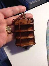 DOLLHOUSE MINIATURE - Hanging Wooden Wall Display Shelf BESPAQ WALNUT 1:12 scale