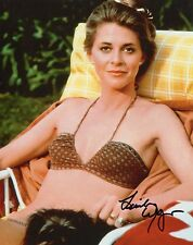 LINDSAY WAGNER HAND SIGNED 8x10 COLOR PHOTO+COA       SEXY POSE IN BIKINI