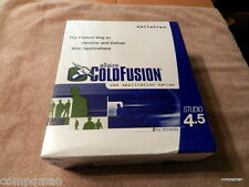Vintage Allaire ColdFusion 4.5 Studio Software for WINDOWS 95/98/ NT 4.0 Sealed