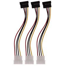 3Pcs 4Pin IDE to 15Pin Serial ATA SATA Hard Drive Power Adapter Cable Connectors