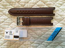 22mm HADLEY ROMA brown notched watchband for TAG Heuer CT 1111 and similar