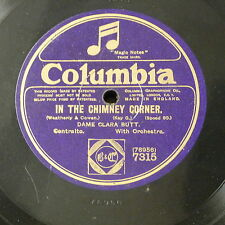 """78rpm 12""""  DAME CLARA BUTT in the chimney corner / the old folks at home"""
