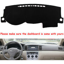 Fly5D DashMat Black Dashboard Mat Dash Cover Pad For TOYOTA COROLLA 2000-2005