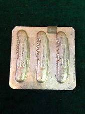 3 Pocket Knife Jacknife w Corkscrew 2-Piece Chocolate Mould~ Original