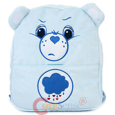 "Care Bears Grumpy Bear Blue Plush School Backpack 12"" Small Bag with Ear"