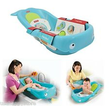 Fisher Price Baby Bath Tub Whale Infant Toddle Newborn Shower Bathroom Non Slip