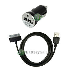 USB Black Mini Car Charger+Cable Data Sync Cord for Apple iPod 2G 3G 4G 5G 6G 7G