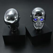 Cráneo Cromo Pomo Palanca de Cambio Universal Manual Coche Shift Knob Lever LED