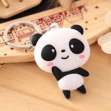 1pcs Cartoon Silicone Panda Design Keychain Bag Key Ring Pendant Kawaii Gift