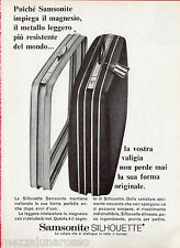 Pubblicità Advertising 1968 Silhouette SAMSONITE