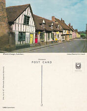 1960's WEAVERS COTTAGES LAVENHAM SUFFOLK UNUSED COLOUR POSTCARD