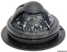 "RIVIERA Comet Boat Marine Compass 2"" Black Surface Mount"