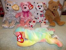 5) Original Retired Ty Beanie Baby Glory Curly Smitten ERROR Sammy The Beginning