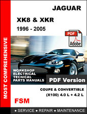 1996 - 2005 JAGUAR XK8 XKR FACTORY SERVICE REPAIR MANUAL + WIRING DIAGRAMS