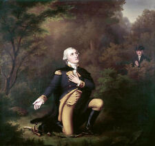 George Washington In Prayer at Valley Forge Paul Weber Print Poster 12x11.5