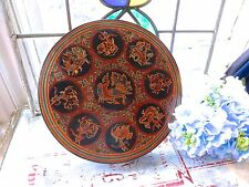 VINTAGE ASIAN ORIENTAL BURMESE LACQUERED BOX - BURMESE LACQUERWARE BOX - 7 PARTS