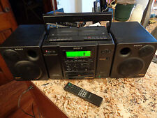Sony CFD-580 Cassette-Corder CD Player Dubbing AM FM Radio Boombox Stereo