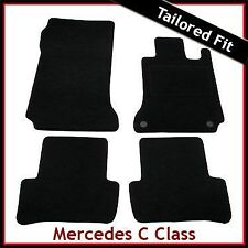 Mercedes C-Class W204 Automatic 2007-2014 Tailored Fitted Carpet Car Mats BLACK