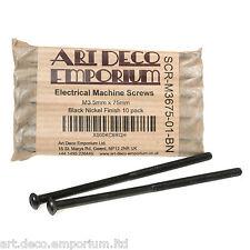ELETTRICO VITI m3.5 x 75mm in nero nickel finitura (10 CONFEZIONE)