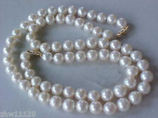 New 9-10MM AAA GENUINE WHITE AKOYA PEARL NECKLACE BRACELET