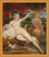 Diana at the Bath James Ward Nackte Frauen Bad Neger Hund Tücher B A2 02410