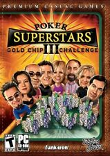 Poker Superstars III: Gold Chip Challenge 3 PC Game Window 10 8 7 Vista Computer