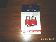 TSA Lock Travel Sentry Approved RED AMERICAN TOURISTER Luggage Lock 2PC