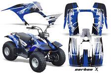 Yamaha Breeze 125 Graphics Sticker Kit AMR Racing ATV Quad Decal 89-07 CARBON BU