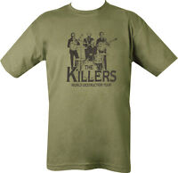Military Printed THE KILLERS T Shirt Olive Green PARA