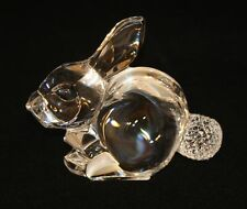 Waterford Crystal Figurine Easter Bunny Rabbit Seated Golf Ball Tail 109167
