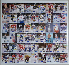 1994 Hockey Wit Rare Uncut Sheet BRYAN TROTTIER Grant Fuhr MAURICE RICHARD /500