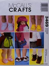 """McCall's 3469 Sewing PATTERN fits 18"""" American Girl Doll Clothes / ACCESSORIES"""