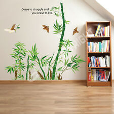 Green Bamboo Vinyl Wall Sticker Removable Art Wall Decals Home Living Room Decor