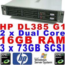 HP Proliant DL385 G1 Serveur De Stockage 2 x Dual Core 2,20 ghz 16GB RAM 3 x