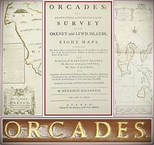 1750*ORCADES*HYDROGRAPHIC SURVEY*ORKNEY*ISLE OF LEWIS*HEBRIDES*SCOTLAND*8 MAPS**