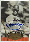 Felipe Alou 2005 UD Past Time Pennants Signatures GOLD Parallel on-card Auto