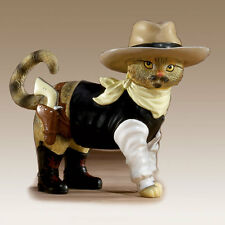 Rebel With A Claws Cat Figurine Sours in Fur Kitty Cowboy Bradford Exchange