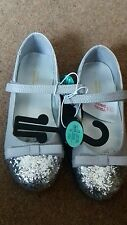 infant/girls grey ballerina party sparkly shoes size 10 NEW ex chainstore.