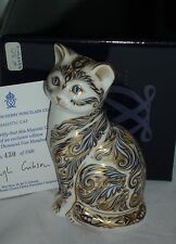 Royal Crown Derby   MAJESTIC CAT   Paperweight  1997 EVENTS only  Lim.No. 430